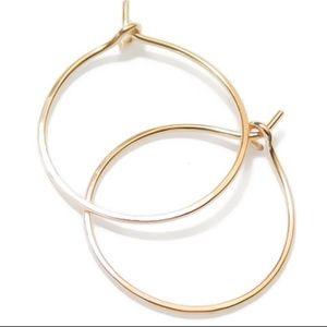 One inch hoop earrings